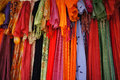 Scarves colorful indian sold in leh Stock Image