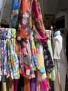 Scarves in the street in capri these are anacapri is on island of italy Stock Photos