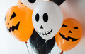 Scary air balloons decoration for halloween party Royalty Free Stock Photo