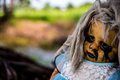Scary baby doll of halloween Royalty Free Stock Photo