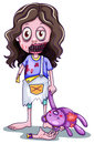 A scary baby zombie lllustration of on white background Stock Photo