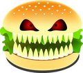 Scary burger Royalty Free Stock Photography