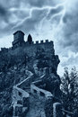 Scary castle Stock Images