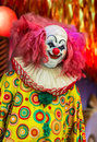 Scary clown doll face Royalty Free Stock Photo