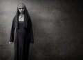 Scary Devil Nun Royalty Free Stock Photo