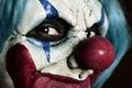 Scary evil clown Royalty Free Stock Photo