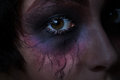Scary eye from teenage girl Royalty Free Stock Photo