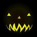 Scary face of halloween pumpkin in dark background graphic vector eps Stock Photo