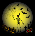 Scary halloween background Stock Image
