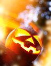 Scary halloween background with pumpkin Royalty Free Stock Photos