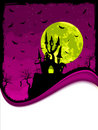 Scary Halloween Castle with Copy Space. Royalty Free Stock Images