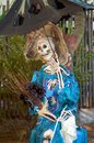 Scary halloween decoration female skeleton Stock Photos