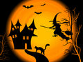 Scary Halloween night Royalty Free Stock Photos