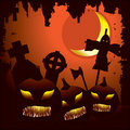 Scary Halloween night background Stock Photos
