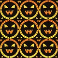Scary halloween pattern Royalty Free Stock Photo