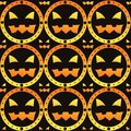 Scary halloween pattern Stock Image