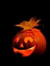 Scary halloween pumpkin jack-o-lantern Royalty Free Stock Photography