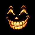 Scary Jack O Lantern Stock Photography