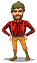 A scary lumberjack standing illustration of on white background Stock Photography