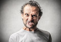 Scary man with a danger expression Royalty Free Stock Photo