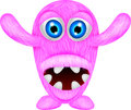 Scary pink monster illustration of Stock Images