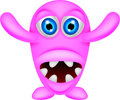 Scary pink monster illustration of Stock Image