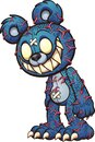 Scary blue Teddy bear with red veins popping out Royalty Free Stock Photo