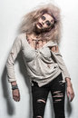 Scary undead zombie girl a Royalty Free Stock Image