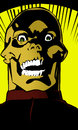 Scary zombie the face of in retro comic book style Royalty Free Stock Photo