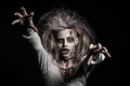 A scary zombie girl undead Stock Images