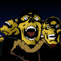 Scary zombies in retro comic book style Royalty Free Stock Photos