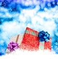 Scatole del nuovo anno holiday christmas gift Fotografia Stock