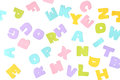 Scatter alphabet paper cut on white background Stock Photography