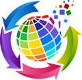 Scatter world design illustration art of a with isolated background Stock Images