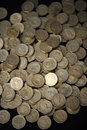 Scattered coins Royalty Free Stock Photo