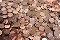 Scattered Collection Of South African Coins 2 Royalty Free Stock Photo