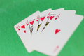 Scattered deck of cards Royalty Free Stock Photo