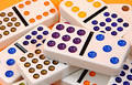 Scattered Dominoes Royalty Free Stock Images