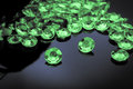 Scattered emeralds Royalty Free Stock Photo