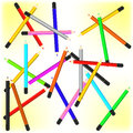 Scattered pencils vector background Royalty Free Stock Photo