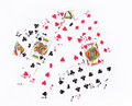 Scattered playing cards background Royalty Free Stock Photo