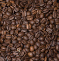 Scattering of coffee black Stock Photos