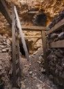 Scavato in tunnel dell'asta cilindrica di miniera Fotografie Stock Libere da Diritti
