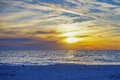 This scene as a sun set at St petersburg beach Royalty Free Stock Photo