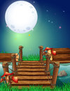 Scene with fullmoon at night Royalty Free Stock Photo