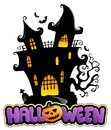 Scene with Halloween sign 1 Royalty Free Stock Photography