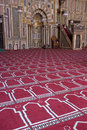 Scene inside a Mosque, Islam, islamic Religion Royalty Free Stock Photo