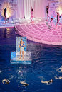 Scene from musical show for children moscow jan through the looking glass at swimming pool of sports complex olympyisky january Royalty Free Stock Photos