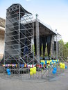 Scene open air concerto metallic stage Royalty Free Stock Photo