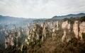 Scene of rock mountain in Zhangjiajie National Forest Park,Hunan Royalty Free Stock Photo